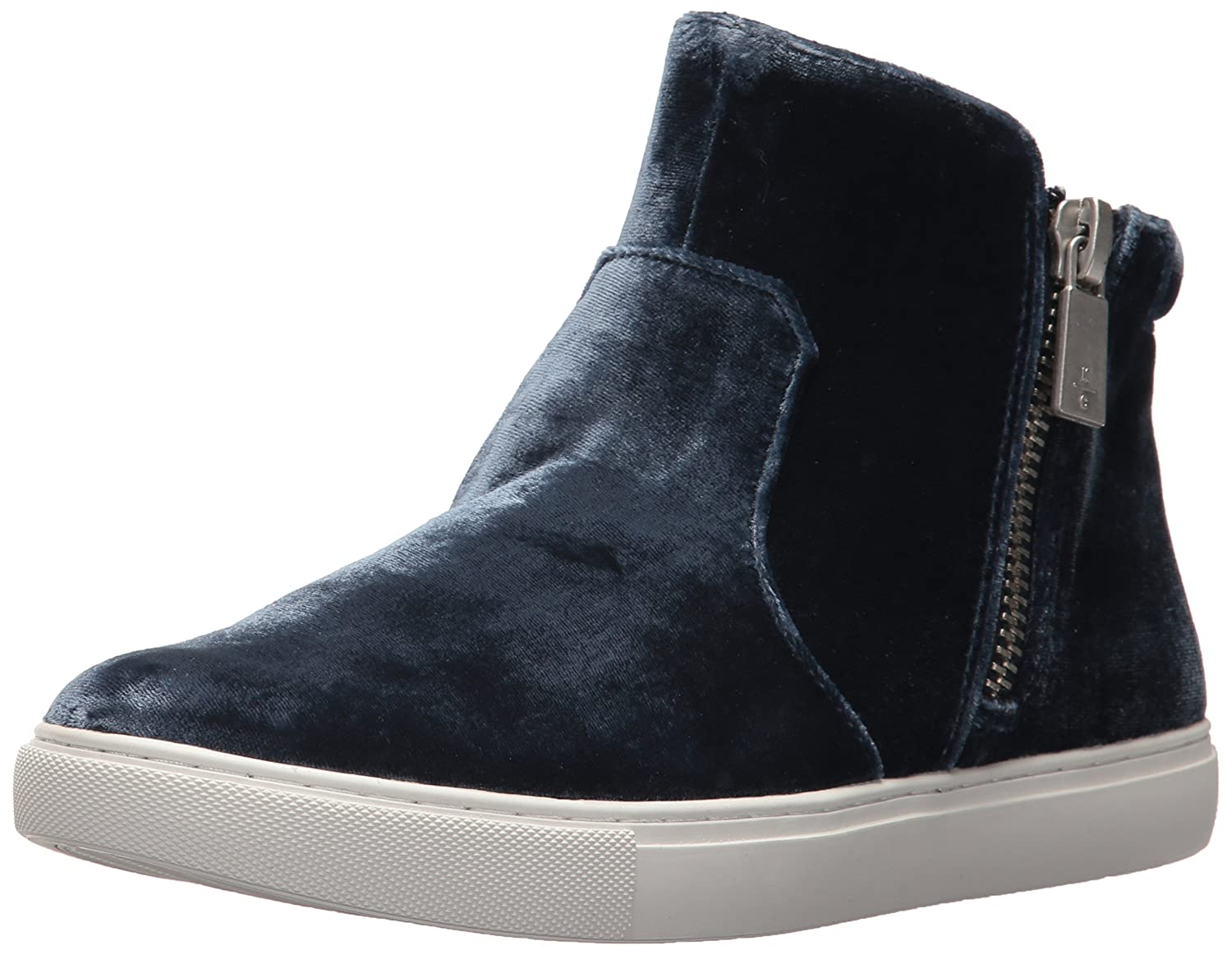 Kenneth Cole New York Women's Kiera Double Zip Mid-Top Velvet Sneaker B073XKB3D6 5 B(M) US|Indigo