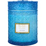 LA JOLIE MUSE Marine Breeze Scented Candle, 100% Natural Soy Candle for Home, 90 Hours Long Burning, Large Glass Jar Candles,