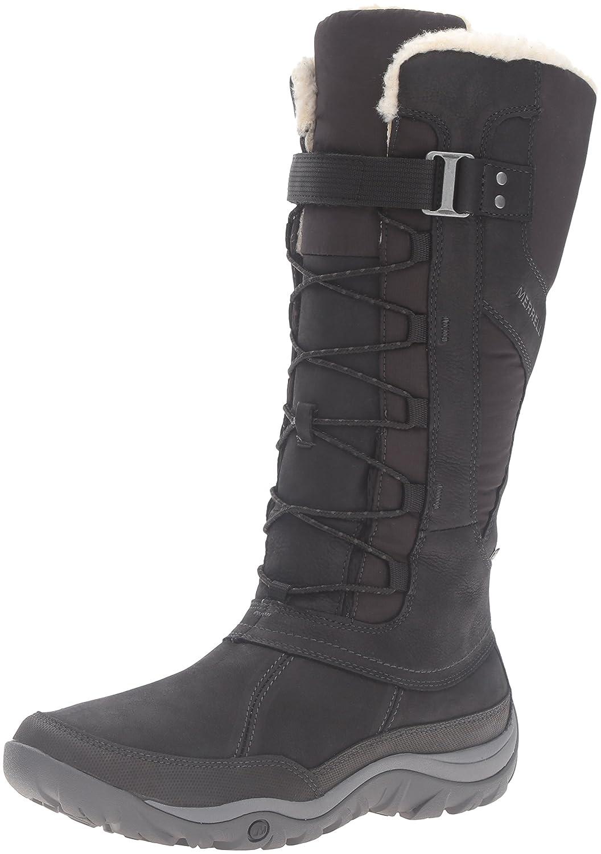 Merrell Women's Murren Tall Waterproof-W Snow Boot B01944PHV4 5 B(M) US|Black