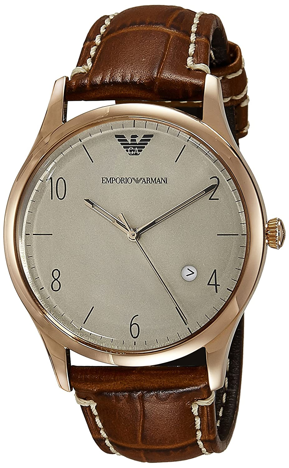 f2045470cabc Buy Emporio Armani End-of-Season Analog Gunmetal Dial Men s Watch - AR1866  Online at Low Prices in India - Amazon.in
