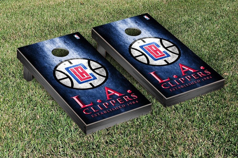 Los Angeles LA Clippers NBA Basketball Regulation Cornhole Game Set Museum Version