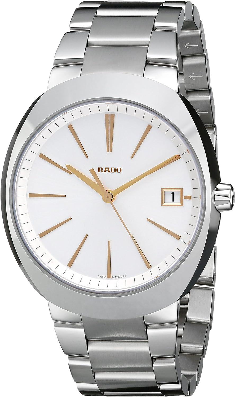 Rado Men s R15943123 D Star XL Analog Display Swiss Quartz Silver Watch
