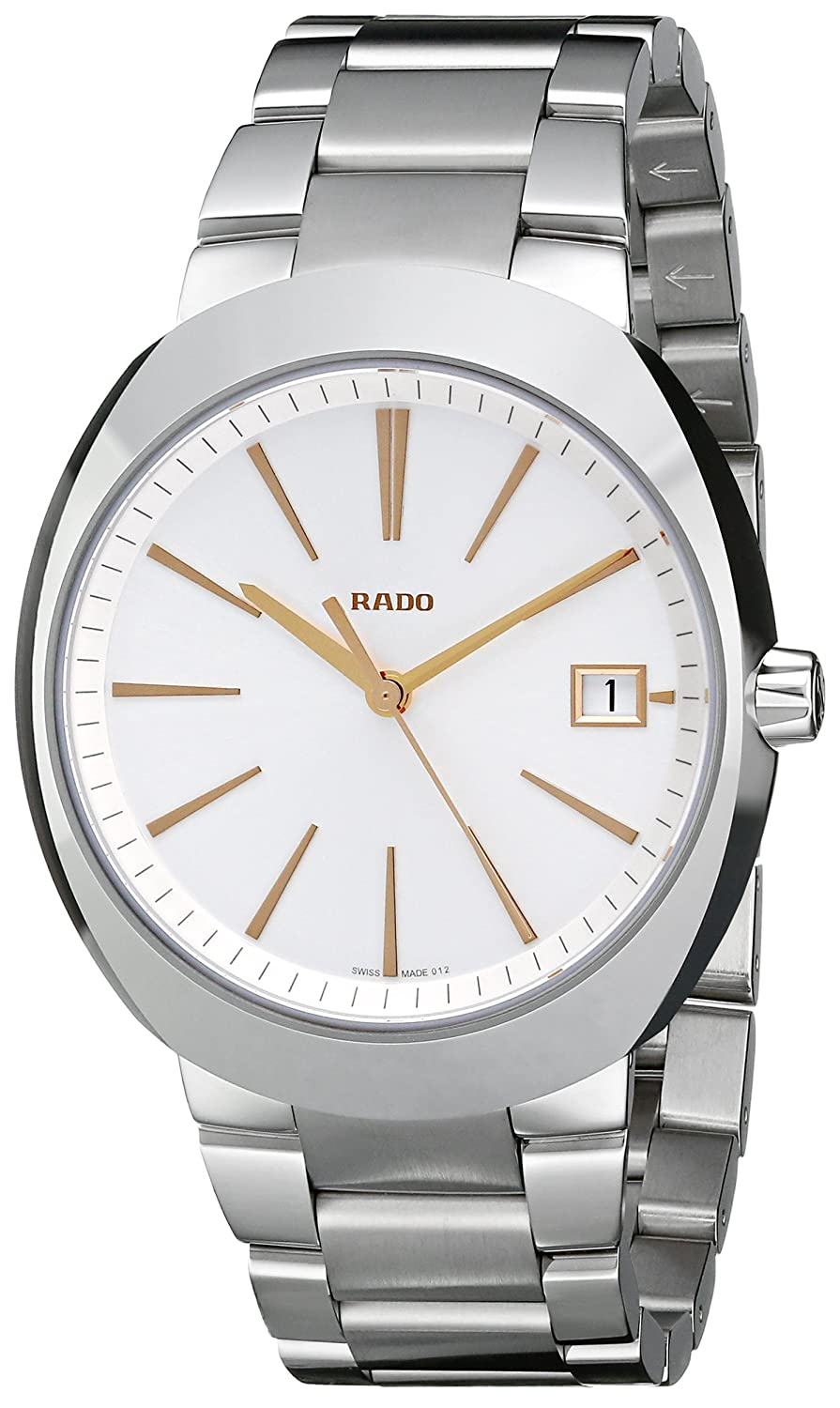Rado Men s R15943123 D Star XL Analog Display Swiss Quartz Silver Watch