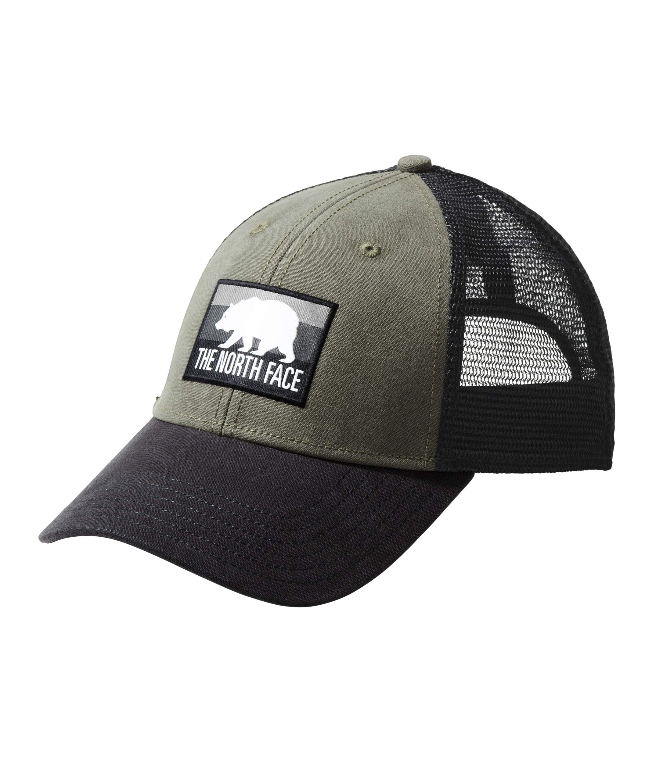 The North Face Unisex Patches Trucker Hat New Taupe Green/TNF Black/Asphalt Grey Multi One Size