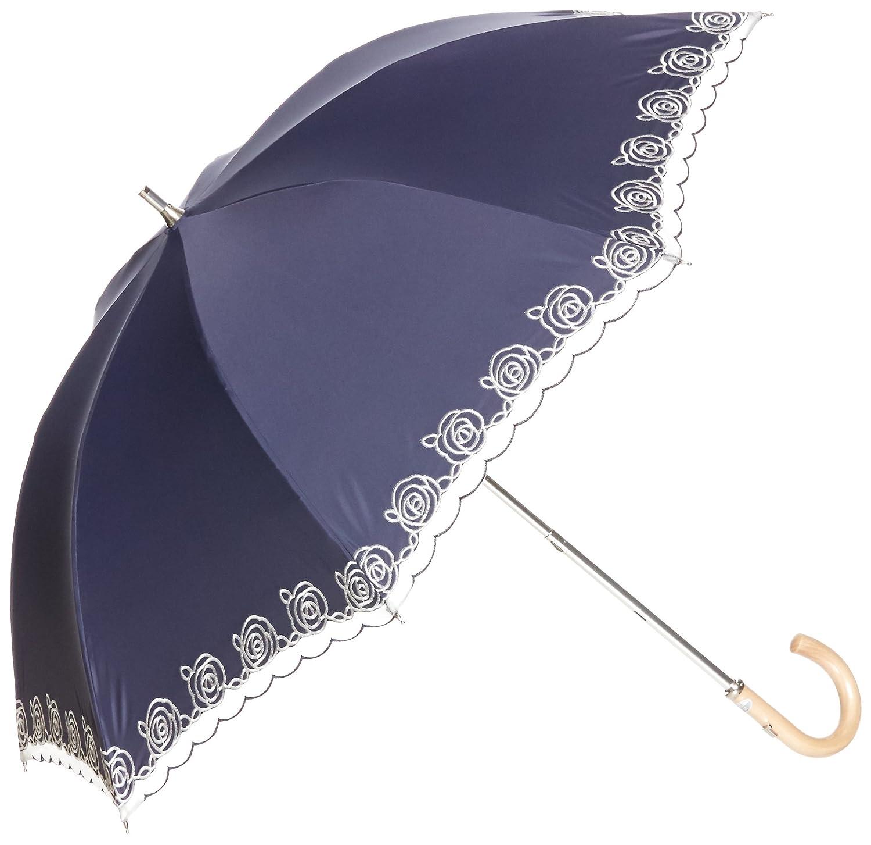 (ムーンバット) MOONBAT ランバンコレクション ショート傘(遮熱&遮光) 軽量 晴雨兼用傘 KOKAGEMAX×オーガンジーバラ刺繍 B07877CMPZ   日本 親骨の長さ47cm-(FREE サイズ)