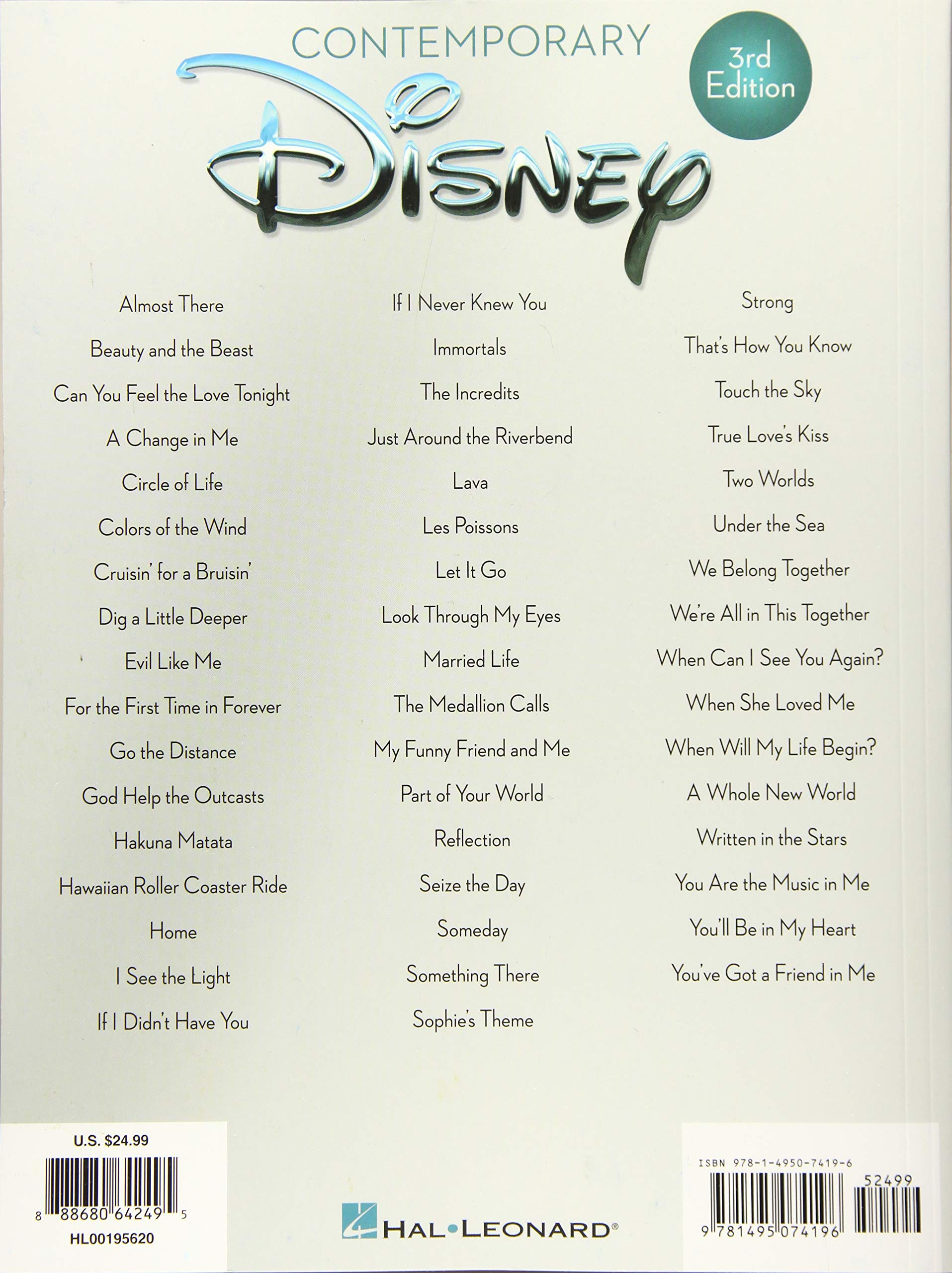 Contemporary Disney: 50 Favorite Songs Piano-vocal-guitar: Amazon ...