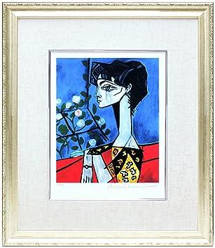 アートショップ フォームス パブロ・ピカソ「ジャクリーヌ・ロックと花」