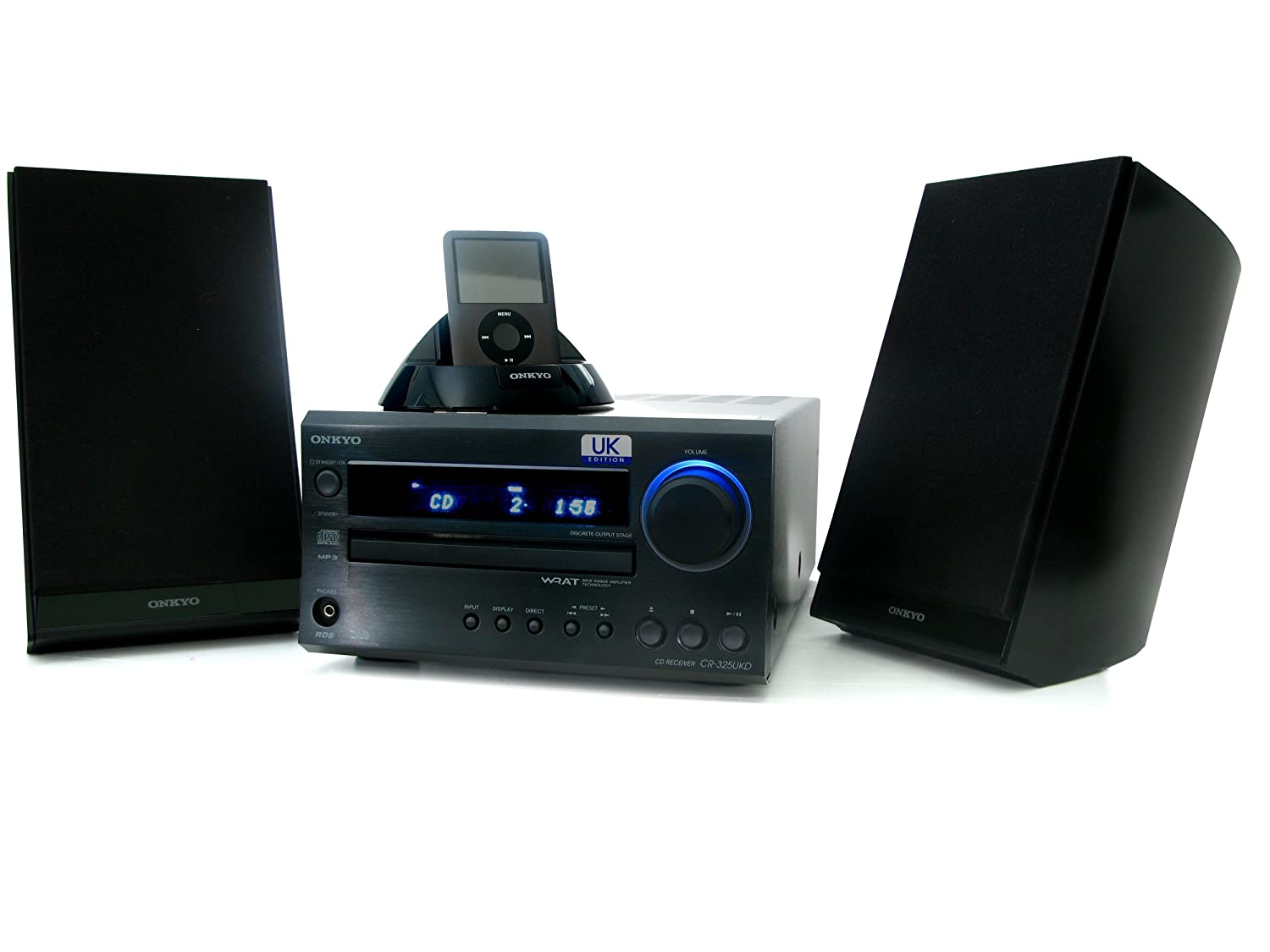 onkyo mini stereo system. onkyo cs-325uk b mini hi fi with dab/cd/ipod dock: amazon.co.uk: electronics stereo system