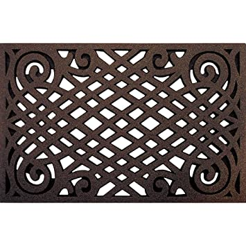 outdoor front door matsAmazoncom  CleanScrape Celtic Lattice Door Mat 22Inch by 34