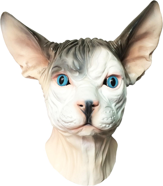 Big Eyed Cat Mask Adult Halloween Kitten
