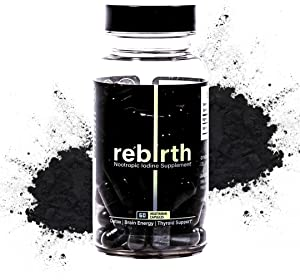 Rebirth - Nootropic High-Potency Iodine Supplement, Brain Energy, Thyroid Support (60 Capsules)
