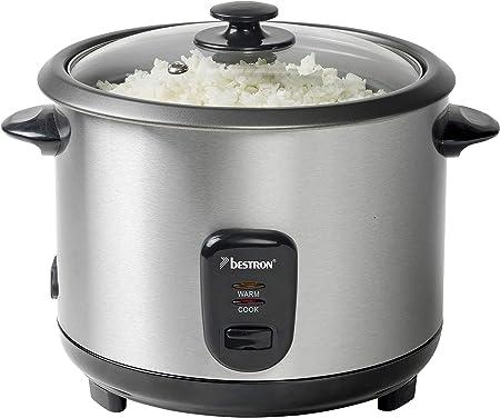 Bestron Grand cuiseur à riz avec panier vapeur et fonction