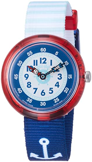 Flik Flak Reloj Analogico para Chicos de Cuarzo con Correa en Tela FBNP090: Amazon.es: Relojes