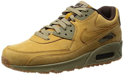 the latest b80a6 873ab Nike Mens Air Max 90 Winter Premium Wheat Leather Trainers 10 US