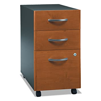 Series C 3 Drawer Mobile File Cabinet In Natural Cherry