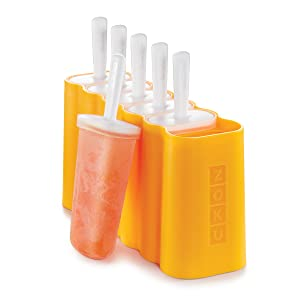 Zoku Mod Pops, 6 Classic Popsicle Molds in One Compact Tray With Sticks and Drip-guards, Easy-release, BPA-free