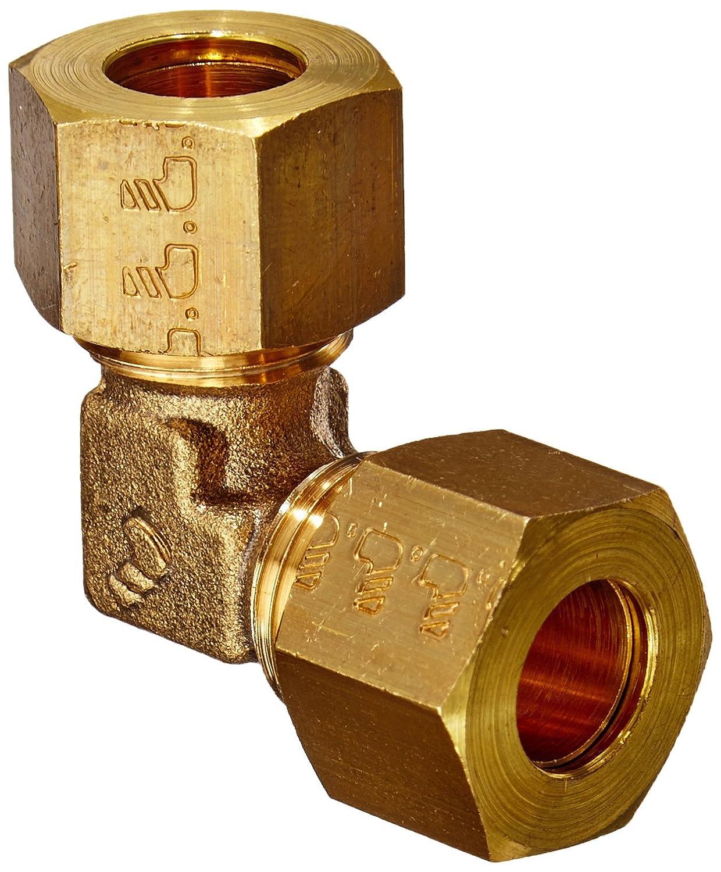 Legris 0102 04 00 Brass Compression Tube Fitting 90 Degree Union Elbow 4 mm Tube OD