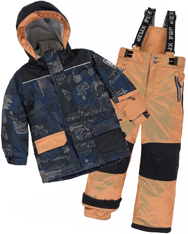 Deux par Deux Boys' 2-Piece Snowsuit Hey Mr Dj Brown, Sizes 4-14