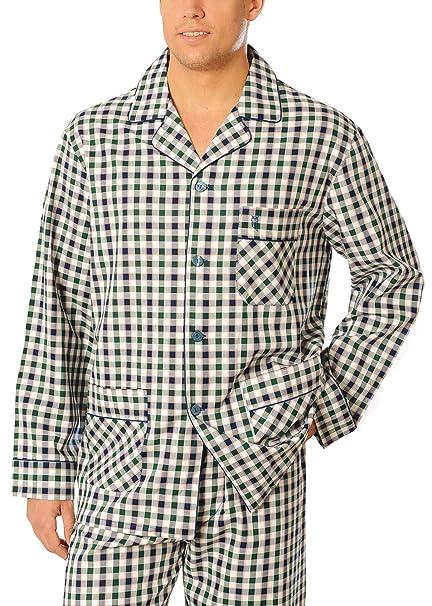 Especial tallas grandes, Pijama de caballero | Pijama de hombre de manga larga clásico a