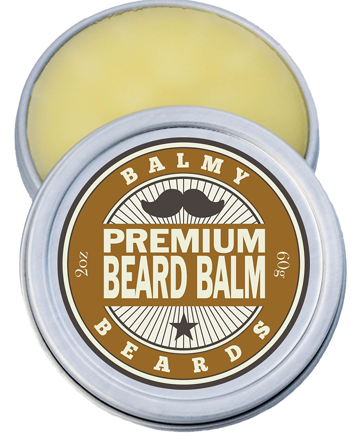 Best Beard Balm for Men - Premium Beard Conditioner, Shaper, Softener and Thickener - 100% All Natural - Grows And Grooms Your Beard and Mustache (Cedarwood) Retroprice