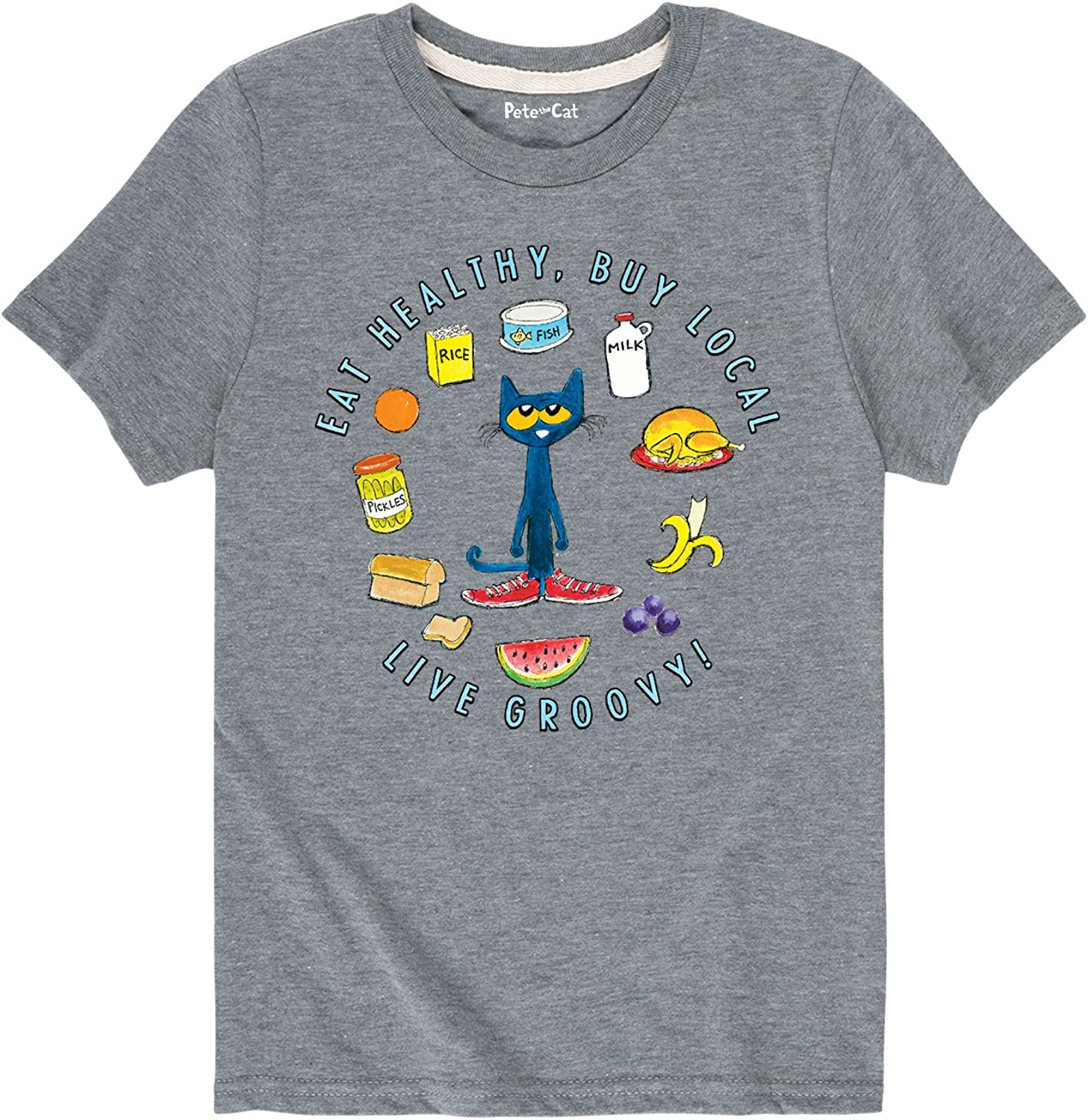 Pete the Cat Food Groups - Toddler Short Sleeve T-Shirt
