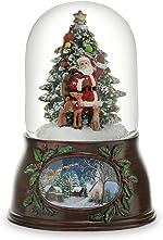 The San Francisco Music Box Company Musical Santa W/Tree Snow Globe