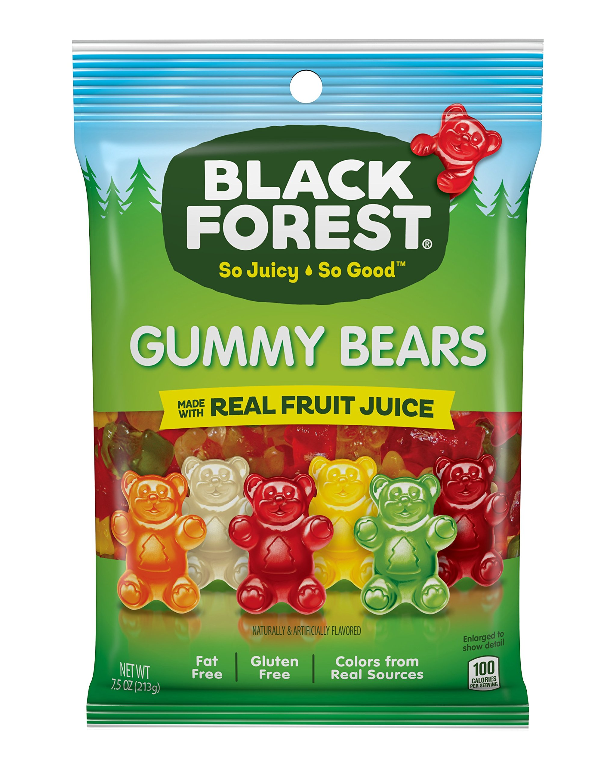 Black Forest Gummy Candy, Bears, Cherry, Orange, Apple, Lemon and Pineapple, 7.5 Ounce (Pack of 8)