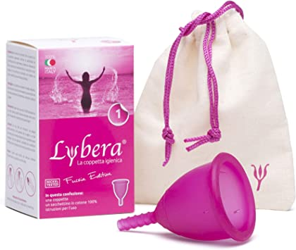 Lybera Copa menstrual fabricada en Italia, copa menstrual suave, segura, de silicona médica, ecológica, para higiene íntima, cómoda, disponible en 2 ...