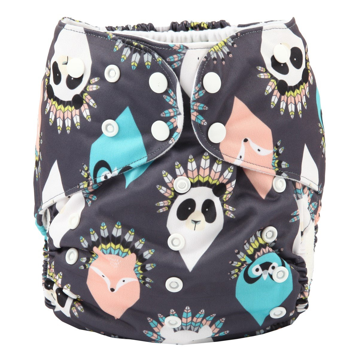 Paisley Fox Sigzagor 2 to 7 Years Old Junior Big Cloth Diaper Nappy Pocket Reusable Washable Baby Kids Toddler