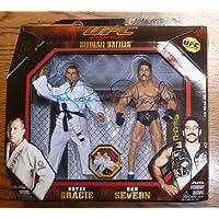 $144 » Dan Severn & Royce Gracie Signed Jakks UFC Legends Action Figure PSA/DNA COA 1 4 - Autographed UFC Miscellaneous Products