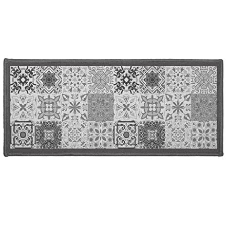 dco tapis tapis dco rectangle polyester gris 50x120 cm - Tapis Deco