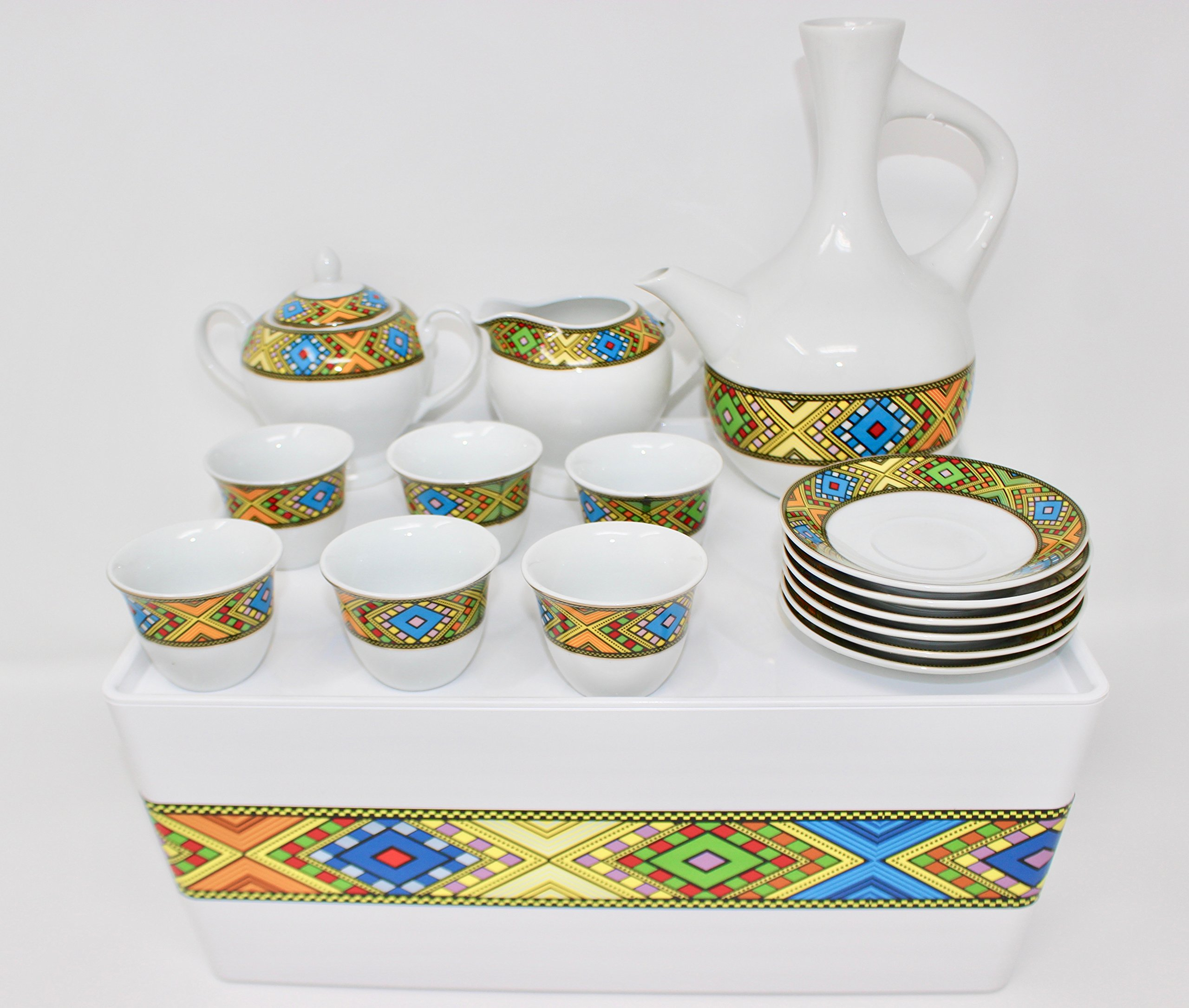 Ethiopian/Eritrean Coffee Cups with Rékébot, Abyssinian Coffee cups, Jebena, Rekebot, Ethiopian art, Eritrean Coffee, Habesha Coffee, Ethiopian Coffee ceremony, Full coffee Set