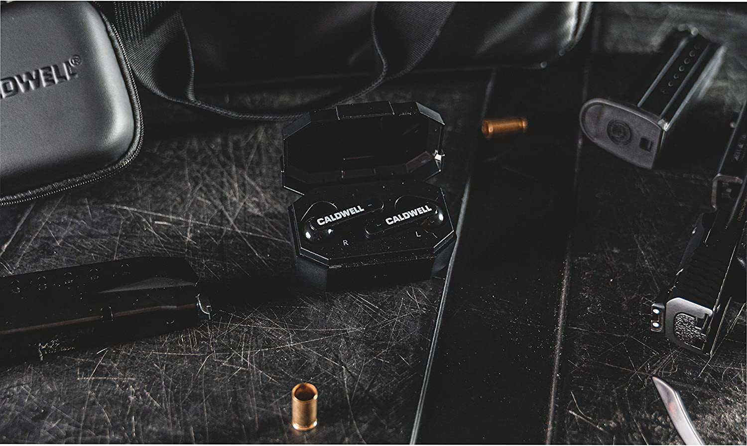 Hunting and Range Electronic Hearing Protection with Bluetooth Connectivity for Shooting Caldwell E-Max Shadows 23 NRR