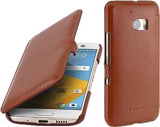 StilGut Book Type avec clip, housse en cuir pour HTC 10, en cognac