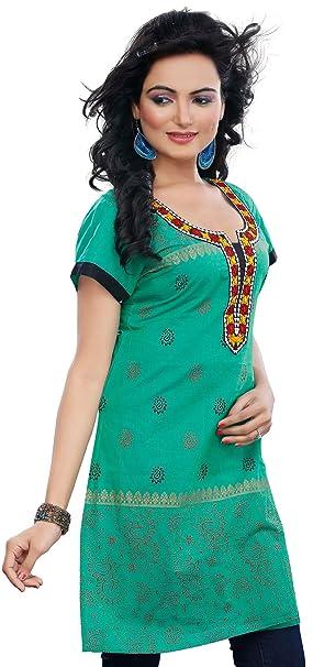 Túnica kurta hindú de manga larga, blusa de algodón para