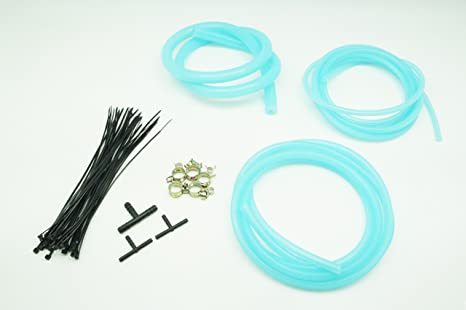 Clear Blue Autobahn88 Engine Room Silicone Vacuum Hose Dress Up DIY Kit Fit All Models of Chevrolet