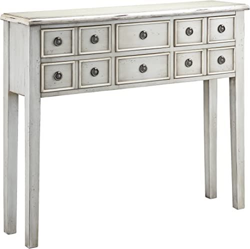 Stein World Furniture Chesapeake Console Table, Cadet Grey, Cream