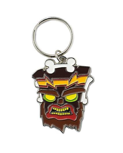 Crash Bandicoot Official Uka Uka Keyring/Keychain: Amazon.es ...
