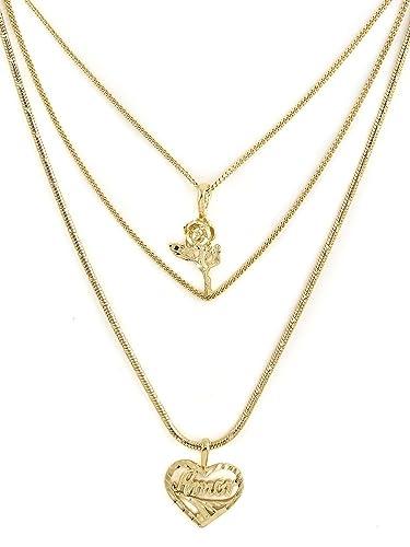 61e9c0c56ea Amazon.com: Vanessa Mooney Women's Cielo Rose & Amor Necklace: Jewelry