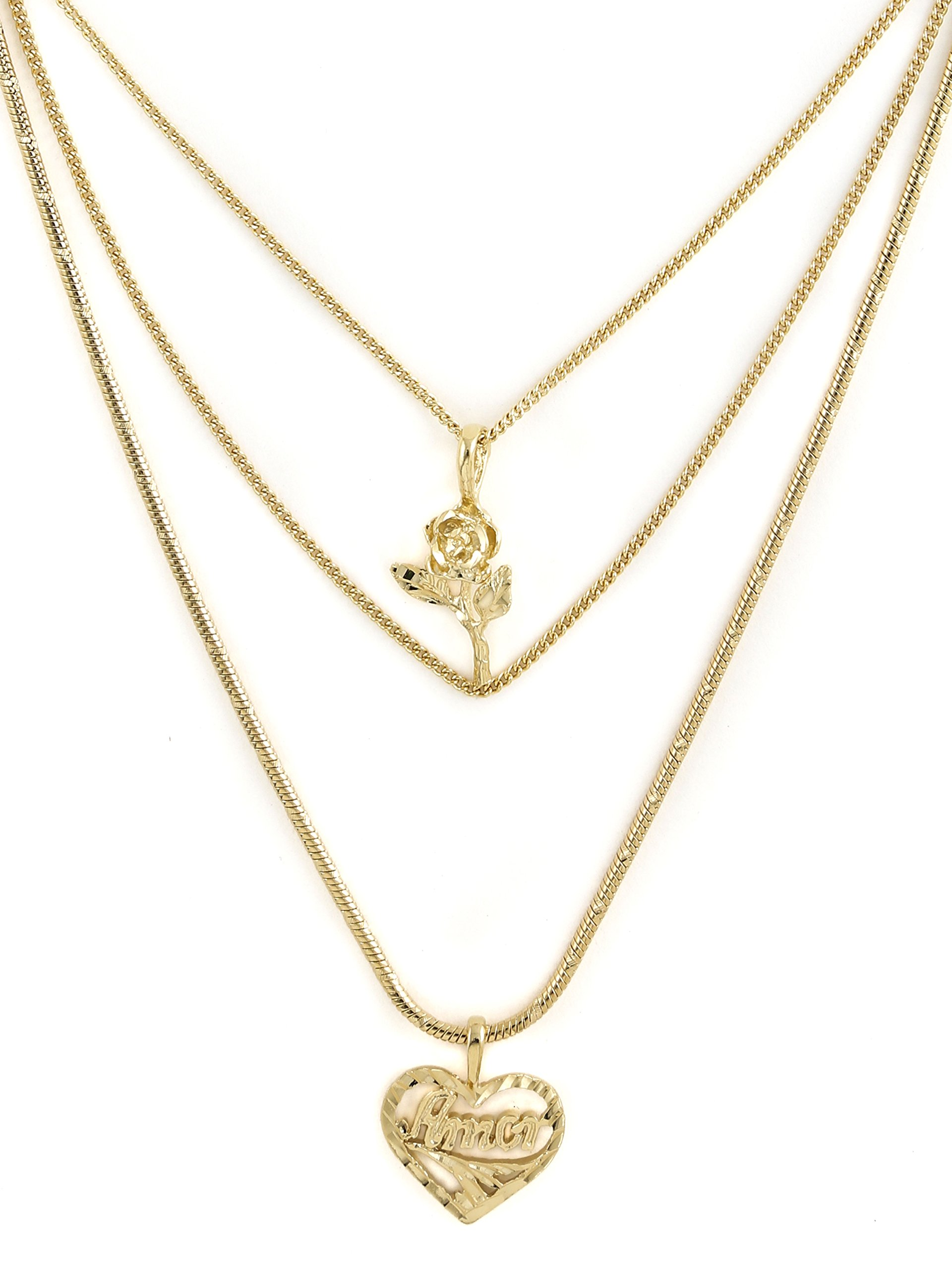 Vanessa Mooney Women's Cielo Rose & Amor Necklace by Vanessa Mooney