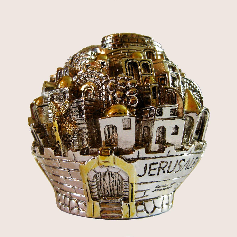 Tzedaká caja judío Caridad caja chapado en plata de ley 925, Judaica, Israel regalo: Amazon.es: Hogar