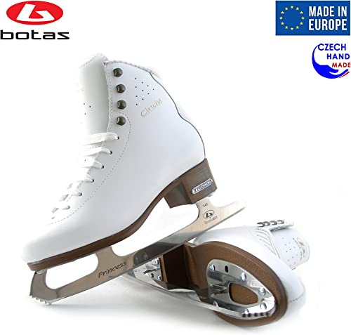 Botas – Model Cindy CEZAR Made in Europe Czech Republic Ice Skates Women, Girls, Men, Boys, Kids Leather Stretchy Cuff Spirit Blades