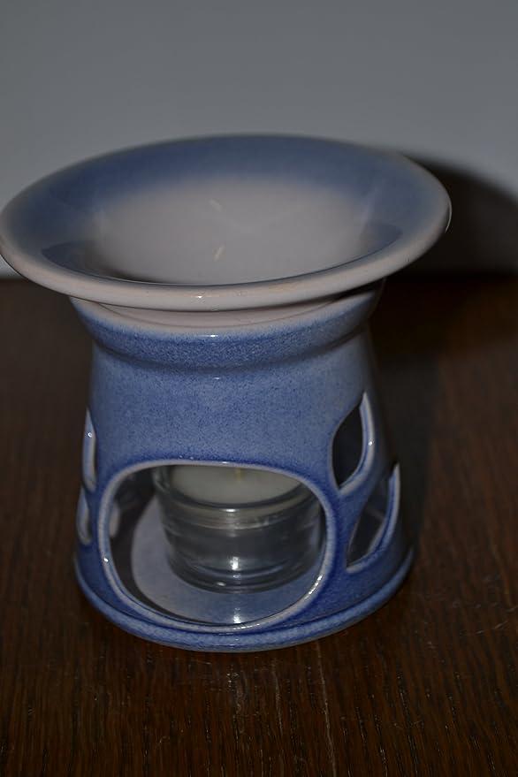 Quemador de esencias Model EVA con vela, azul/rosa: Amazon.es: Iluminación