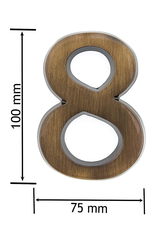 Esschert Design Gusseiserne Hausnummer 2 7.9 x 1.3 x 11.2 rostbraun DB62-2