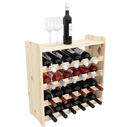 Weinregal Weinregal Holz Flaschenregal Für 24 + Ablage Flaschen