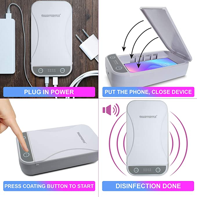 Aromatherapy Function Phone Disinfector Portable Smart Phone Sterilizer Lucky 99 UV Cell Phone Sanitizer for Quick Cleaning /& Disinfection UV Light Phone Cleaner with USB Charging