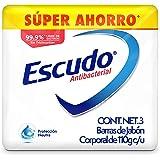 Escudo Antibacterial, Jabón Corporal en Barra de Protección Neutra, Paquete de 3 piezas de 110 gramos cada una, Protección pa