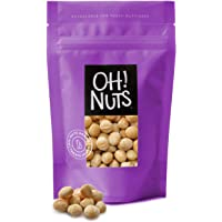 Oh! Nuts Oven Roasted Macadamia Nuts   Dry-Roast, Unsalted, & Gluten-Free   All-Natural, Additive-Free Healthy Snack…