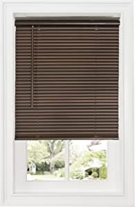 "Achim Home Furnishings DSG235MH06 Cordless GII Deluxe Sundown 1"" Room Darkening Mini Blind, Mahogany, 35"" x 64"""