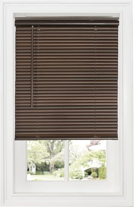 "Achim Home Furnishings Cordless GII Deluxe Sundown 1"" Room Darkening Mini Blind, 34"" x 64"", Mahogany, Mahagony"